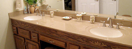 Onyx double sink & counter